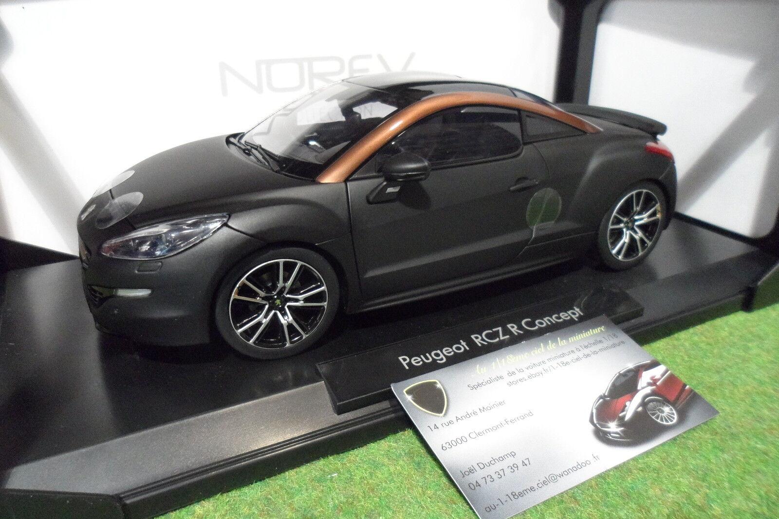 PEUGEOT  RCZ R concept Salon PARIS 2012 noir 1 18 NOREV 184785 voiture miniature