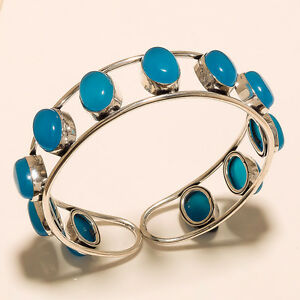 SO-COOL-CHALCEDONY-925-STERLING-SILVER-PLATED-BRACELET-CUFF-JEWELLERY