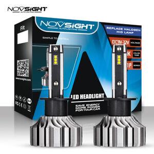 NOVSIGHT 50W H1 LED Auto LED Scheinwerfer CSP Birnen Leuchte 8000LM -Fanless DE
