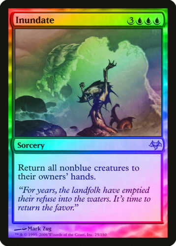 Inundate FOIL Eventide NM-M Blue Rare MAGIC THE GATHERING MTG CARD ABUGames