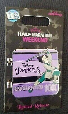 Disney Princess Half Marathon 2019 Weekend Logo Pin New LR Mulan Aurora Jasmine