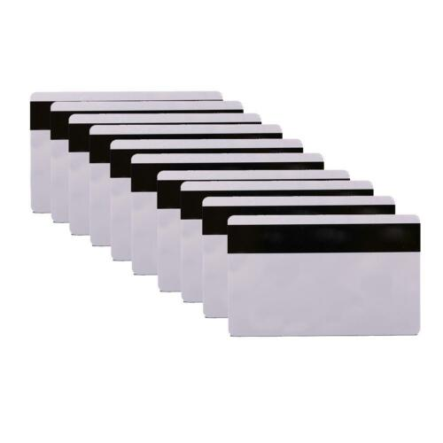 10pcs PVC PLASTIC BLANK WHITE CREDIT CARD 30 MIL With Loco Magnetic Stripe
