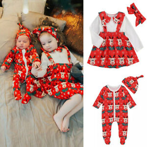 Sister-Matching-Christmas-Toddler-Baby-Girl-Clothes-Romper-Jumpsuit-Dress-Outfit