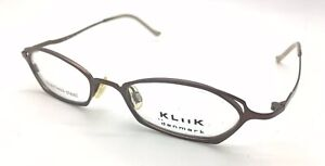 Kliik 133 488 Eyeglasses Frame Brown Authentic 48 18 135
