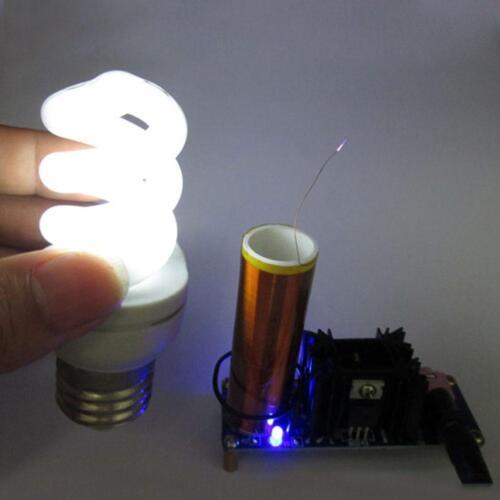 DE.15-24V//2A 15W Mini Tesla Coil Plasma Electric Arc Electronic Kit Music