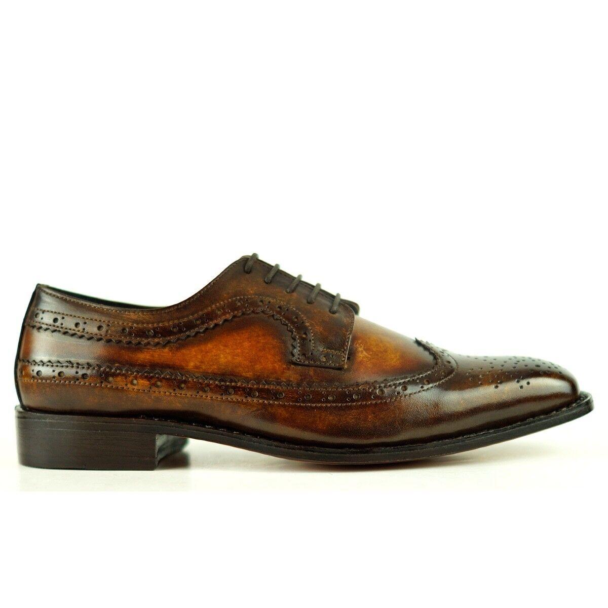 Zapatos de piel para hombre fabricación goodyear welted 2 tonos 9.5UK-44