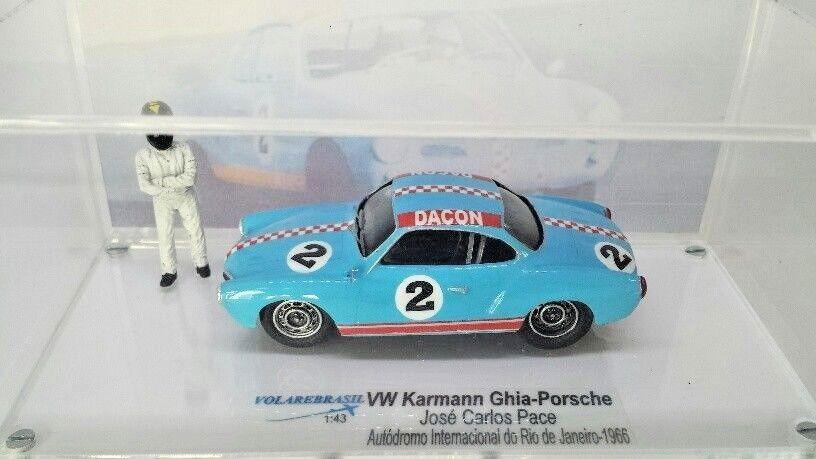 servicio considerado VW Volkswagen Karmann Ghia Porsche Dacon 1600 Pace Pace Pace Miniatura volarebrasil 1/43  muchas sorpresas