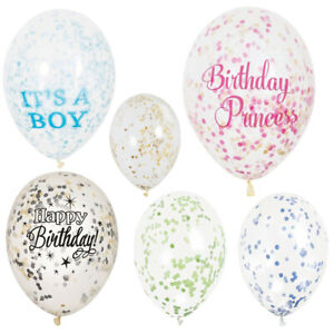 Confetti-Balloons-Party-Wedding-Air-Filled-Boy-Girl-Kid-Decoration-Event-Glitter