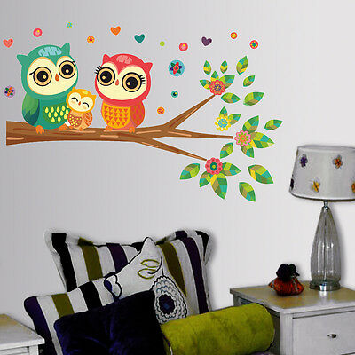 Wall Stickers Wall Decals Best Selling Big Eyed Cute Owl Family