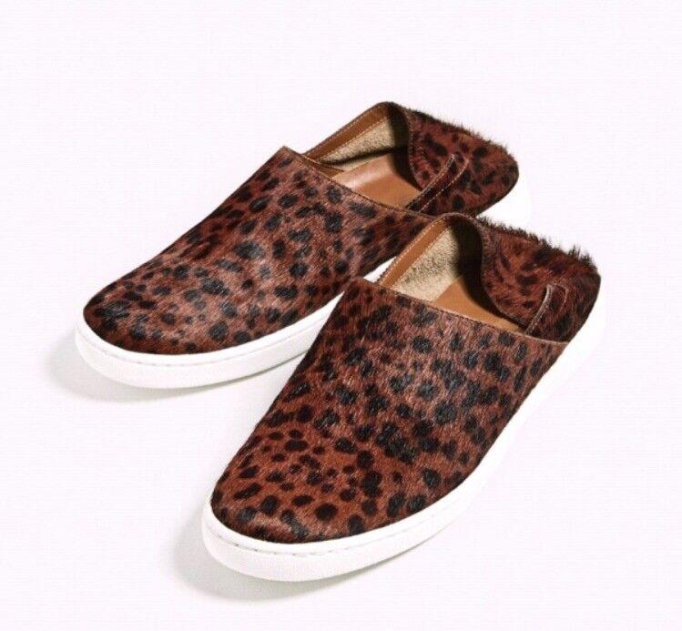 NWT and Box  ZARA Real Leather  Slip on Print Leopard  Leather Eur38  US7.5 96e5fa