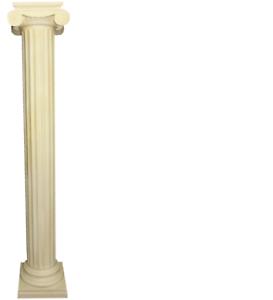 XXL Griega Columna Estilo Antiguo Diseño Columnas Lujo Apoyo Nuevo 218cm