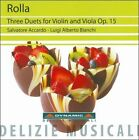 Rolla: Three Duets for Violin and Viola, Op. 15 (CD, May-2011, Dynamic (not USA))