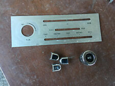 JDM MAZDA EUNOS ROADSTER NA6C MIATA  A/C STAINLESS PLATE WITH SWITCH COVERS
