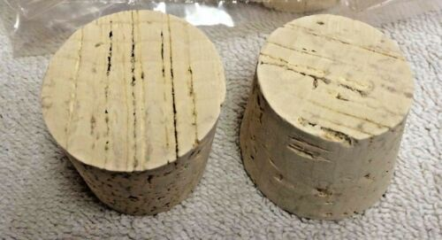 """CORK Size 23 Round Cork Plug Tapered Push-In Fits 1-13//16/"""" Large End"""