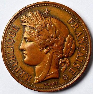 Verantwortlich Medaille Bronze 1891 L'agriculture Et L'industrie 44 G Landwirtschaft Ø 4,1 Cm