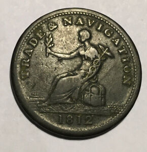 Nova-Scotia-1812-Trade-amp-Navigation-One-Half-Penny-Token