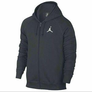 Nike-Air-Jordan-Flight-Men-039-s-Sz-M-Black-Basketball-Full-Zip-Hoodie-AA5583-010