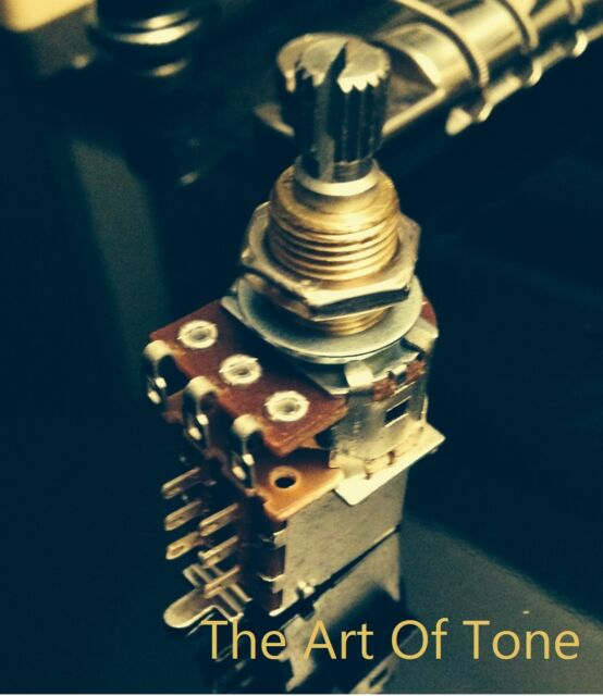 4 Vintage Inspired Pickups VIPots 550k US split long shaft authentic audio taper