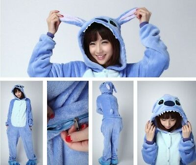 Sleepwear Costumes, Reenactment, Theater Loyal Blue Stich Unisex Adult Pajamas Kigurumi Cosplay Costume Animal Sleepwear Delicious In Taste