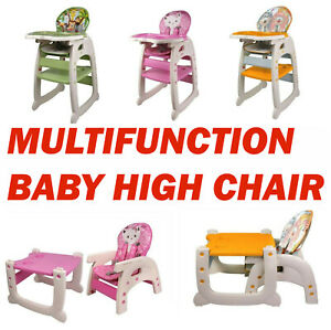 Details about New Mamakids 3 in 1 Baby High Chair Convertible Play Table Seat Booster Toddler