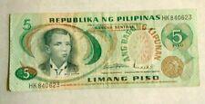 Republika ng Pilipinas Limang Piso 5 Piso  (Philippines) Banknote