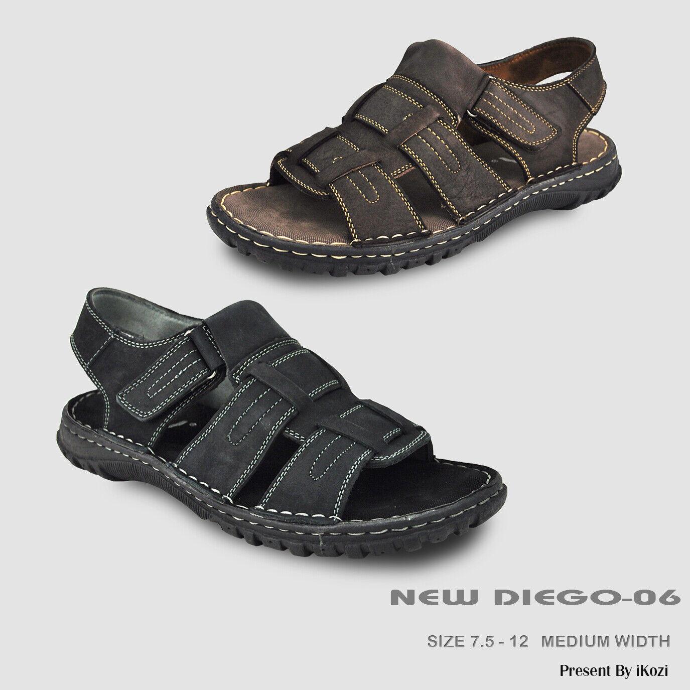 KOZI Nuovi Uomini Cuoio Sandal NEW DIEGO -06 Con Strap  Instep regolabile  vendita online