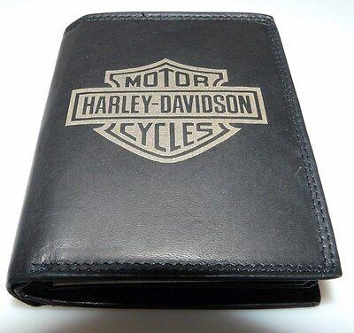 MüHsam Harley Davidson Buell Leder Geld Motorrad Börse Fat Boy Softail Custom Chopper Weich Und Rutschhemmend