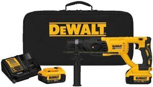 DEWALT DCH133M2 20-Volt Max XR Brushless 1 in. D-Handle Rotary Hammer