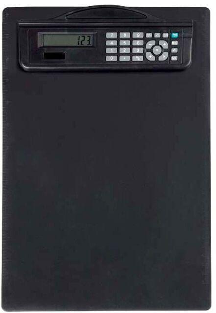 MAUL Klemmbrett mit Rechner DIN A4 Kunststoff schwarz
