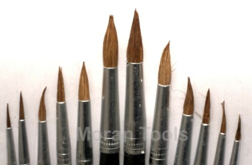 Artist Paint Brush Set 12pc Pointed Head Tipped 1-12 Art Hobby Model making