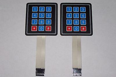 5 PCS 4x3 Matrix Array 12 Key Membrane Switch Keypad for Arduino//AVR//PIC USA SHIP ping BoMiVa