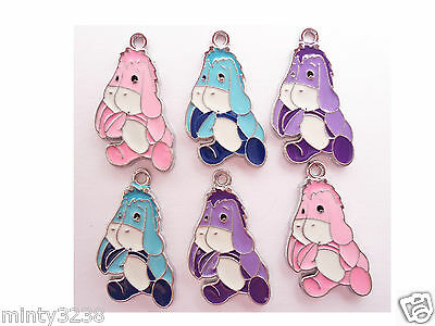 Cute Disney Winnie the Pooh Bear,Piglet,Tigger,Eeyore Enamel Pendants Charms 3,5
