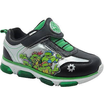 Teenage Mutant Ninja Turtles Green Light-up Sneakers Toddler Boys Sz 9-12