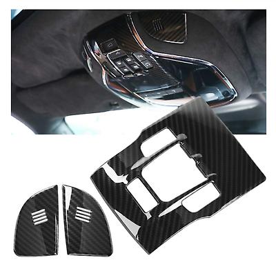 Fibre De Carbone Avant Lampe de lecture Lampe Cover Trim Maserati Levante Quattroporte