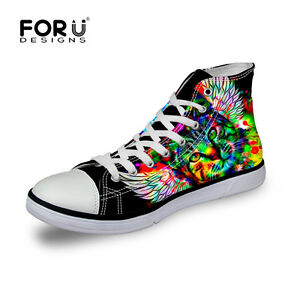 6d7f2a77b7 Details about Mens Designer Hi Tops Trainers Teens Boys Best Canvas Pumps  Shoes Boots Fashion