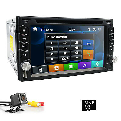 6 2 2din Hd Car Stereo Gps Car Dvd Player Auto Radio With Backup