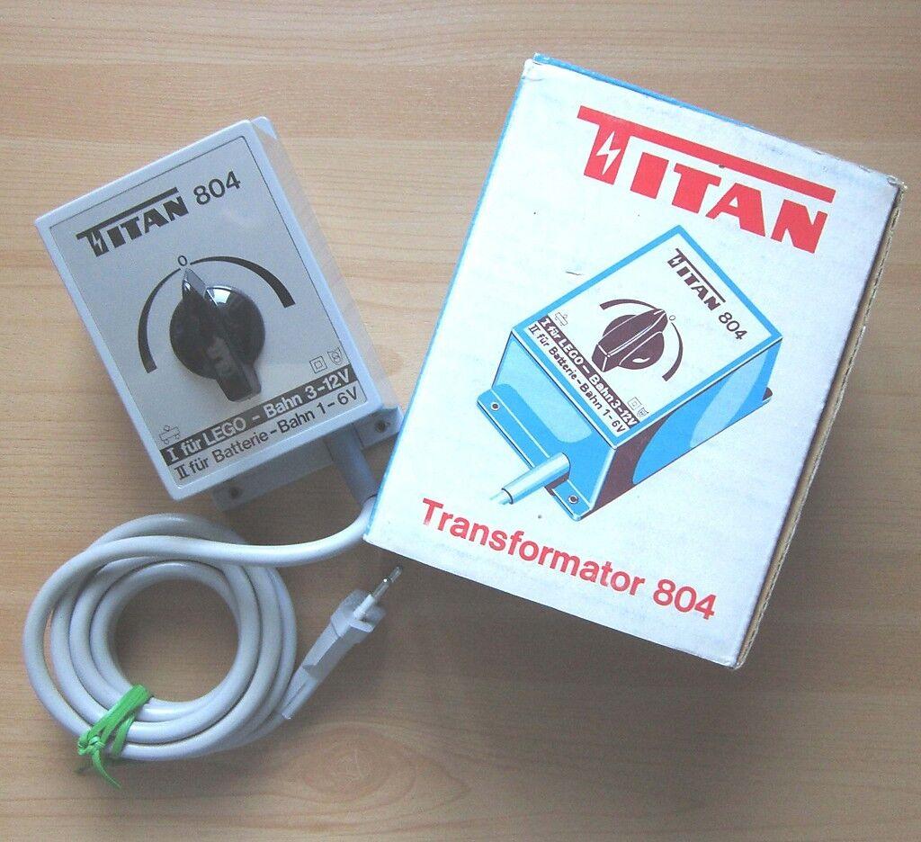 TITAN Trasformatore 804 per LEGO LEGO-Treno + batteria-Bahn trasformatore Regolatore di marcia in scatola originale