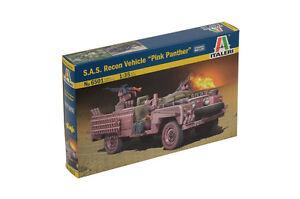 ITALERI-1-35-PLASTIC-MODEL-KIT-SAS-RECON-VEHICLE-PINK-PANTHER-IT06501