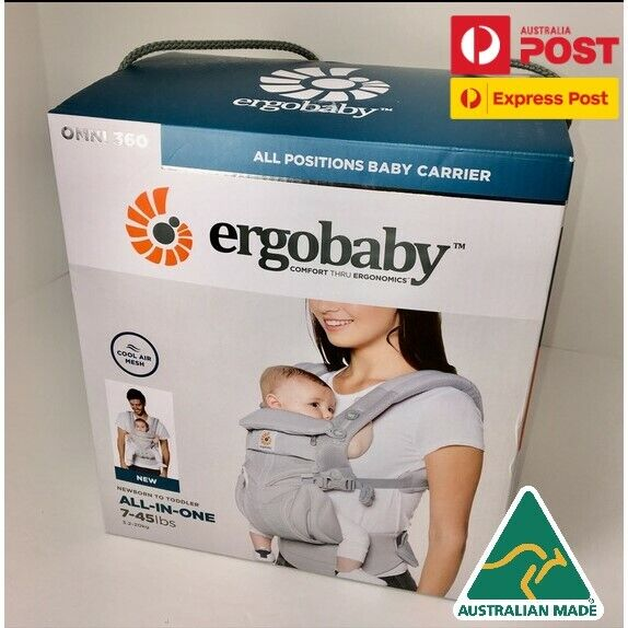 Ergobaby Omni 360 Cool Air Mesh Pearl Grey BRAND NEW IN BOX Au Stock