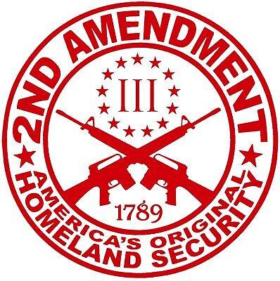 2A 1789 Gun Rights 2nd Amendment Vinyl Window Decal Sticker 8 Inches White