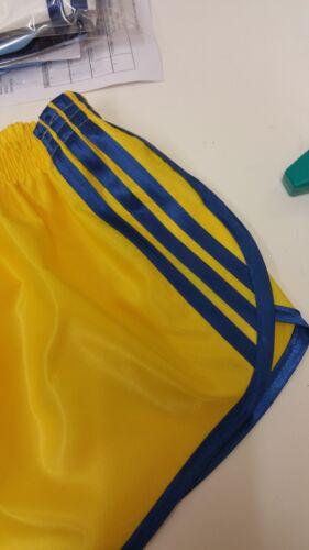 Retro Nylon Satin Sprinter Shorts S to 4XL Yellow Royal