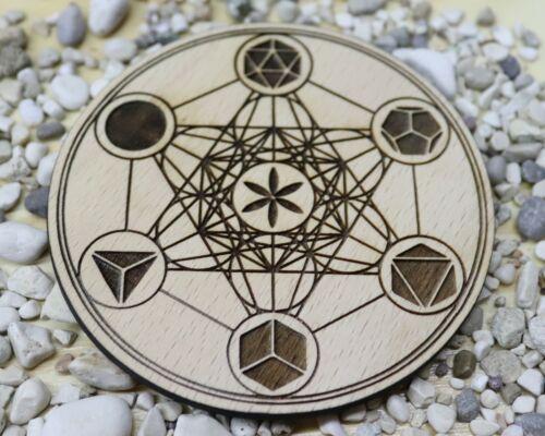 meditation altar Metatron cube crystal grid coaster metatron/'s cube coaster