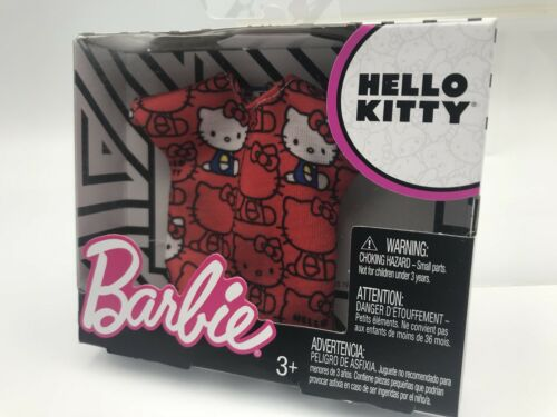 Barbie Hello Kitty FASHION SHIRT CLOTHES RED TOP SANRIO Outfit