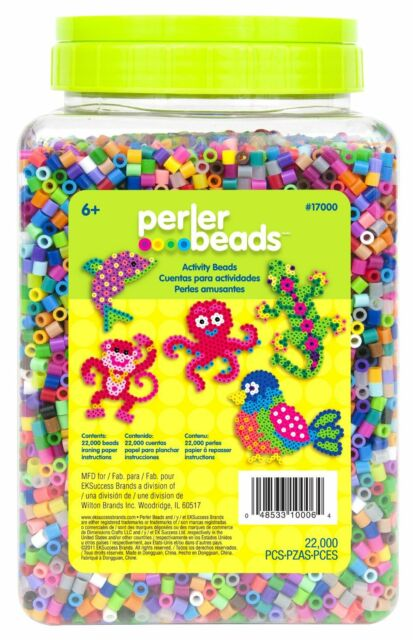Perler Beads 22,000 Count Bead Jar Multi-Mix Colors, New, Free Shipping