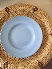 VINTAGE WOODS WARE IRIS DESIGN RETRO BLUE DINNER PLATE- NOW REDUCED TO CLEAR