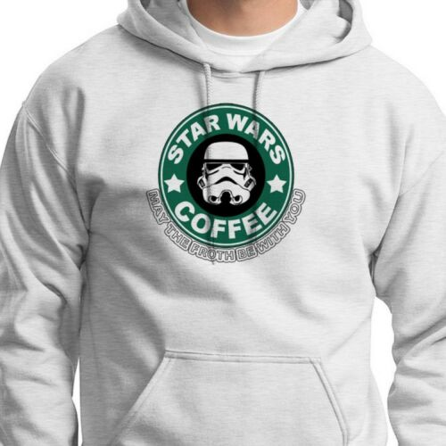 May The Froth Be With You Star Wars Coffee Parody T-shirt Funny Hoody Sweatshirt