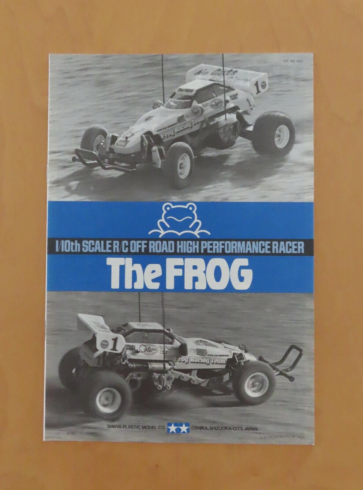 RC Tamiya MANUALE The Frog 5841, 58041 NUOVO 1983