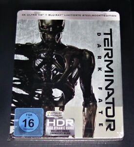 Terminator DARK fate 4k Ultra HD Blu Ray + Blu Ray Edizione Limitata Steelbook Nuovo OVP