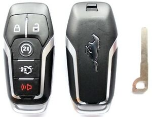ford mustang smart key keyless entry remote fob   uncut key ebay