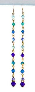 SWAROVSKI-Elements-CRYSTAL-Earrings-Super-Long-Shoulder-Dusters-4-3-4-034-BLUE-MIX